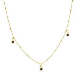 Goldfilled Galaxy Three Onyx Necklace
