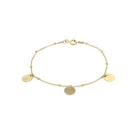 Goldfilled Galaxy Bracelet Three Sequins