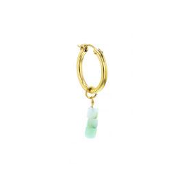 Goldfilled Chunky Hoop Opal