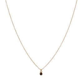 Goldfilled necklace onyx