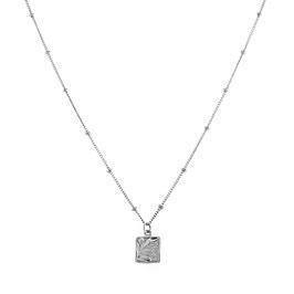 Silver Galaxy Necklace Palm