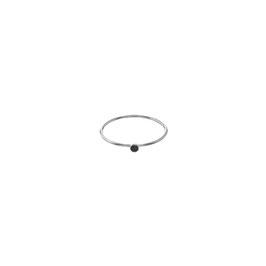 Sleek Ring Onyx Silver