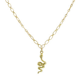 Goldfilled Chunky Necklace Snake
