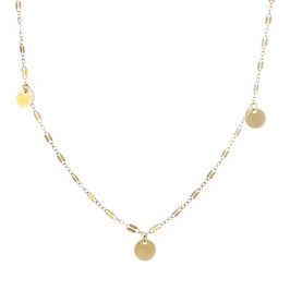 Goldfilled Midnight Necklace Three Coins