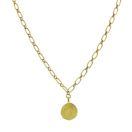 Goldfilled Chunky Necklace Big Coin
