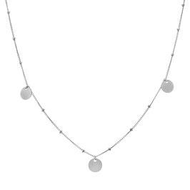 Silver Galaxy Three Sequins Necklace