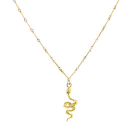 Goldfilled Keychain Necklace Snake