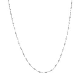 Silver Necklace Twisted