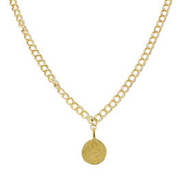 Goldfilled Royal Necklace Big Coin