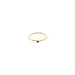 Sleek Ring Onyx Goldfilled