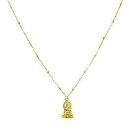 Goldfilled Galaxy Necklace Buddha