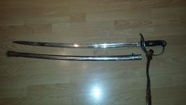 Schweizer M1896/02 Kavallerie Säbel mit originalem Schlagband TOP Zustand!