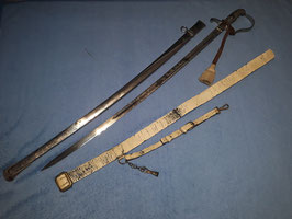 Artillerie Extra Säbel für Offiziere, Schleswig-Holstein, Feldartillerie Regiment Nr.9, Mit Portepee und Gehänge