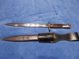 M1936 Mauser Bajonett Spanien, Deutsches Export Stück mit Scheide und Koppelschuh