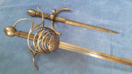 5-Ring Rapier um 1620 INRI MARIA Süddeutsch Original