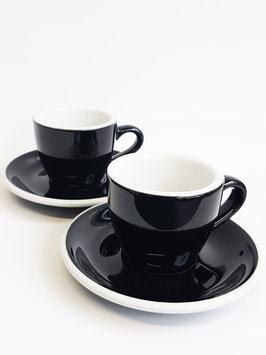 Zwei Espresso Tassen mit Untertassen von ACME