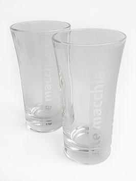 Zwei Latte macchiato-Gläser