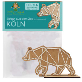 Bastelset Sticken Eisbär Köln