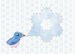Designkarten-Set 'Vogel' 5 Stück