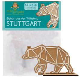 Bastelset Sticken Eisbär Wilhelma Stuttgart