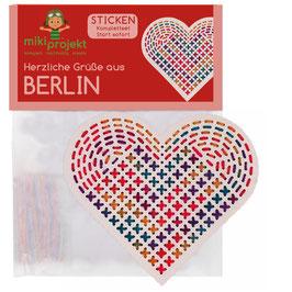 Bastelset Sticken 'herzliche Grüße aus Berlin'