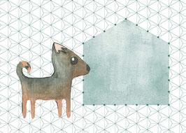 Designkarten-Set 'Hund' 5 Stück