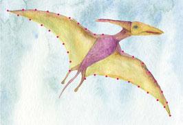 Designkarten-Set 'Dino fliegend' 5 Stück