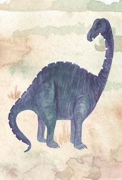 Designkarten-Set 'Dino lila' 5 Stück
