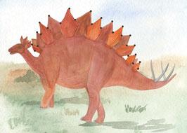 Designkarten-Set 'Dino rot' 5 Stück
