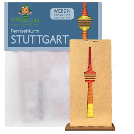 Bastelset Weben Fernsehturm Stuttgart