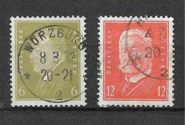 Deutsches Reich FREIMARKE 465-466 gestempelt (3)