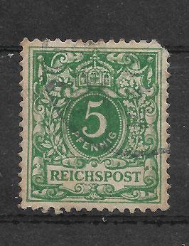 Deutsches Reich KRONE & ADLER 46c gestempelt (BPP WIEGAND) (12)