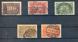 Deutsches Reich FREIMARKE 219-223 gestempelt (3)