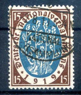 Deutsches Reich NATIONALVERSAMMLUNG 108 gestempelt