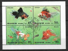 Nordkorea Kleinbogen 3516-3519 gestempelt