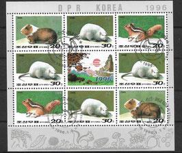 Nordkorea Kleinbogen 3794-3796 gestempelt