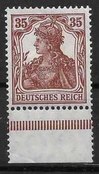 Deutsches Reich GERMANIA 103a ungebraucht als Unterrandstück (BPP JÄSCHKE)