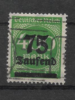 Deutsches Reich FREIMARKE 287a gestempelt (INFLA) (2)