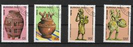 BURKINA FASO 1050-1053 gestempelt