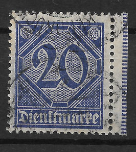 Deutsches Reich DIENST 26 gestempelt