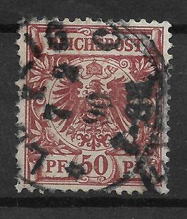 Deutsches Reich KRONE & ADLER 50b gestempelt (BPP ZENKER) (3)
