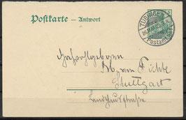 Deutsches Reich POSTKARTE 81 A gestempelt
