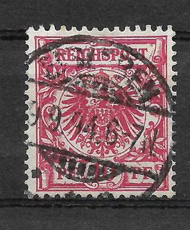 Deutsches Reich KRONE & ADLER 47c gestempelt (BPP WIEGAND) (2)