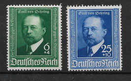 Deutsches Reich 50 JAHRE DIPHTERIE-SERUM 760-761 postfrisch