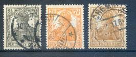 Deutsches Reich GERMANIA 98-100 gestempelt (7)