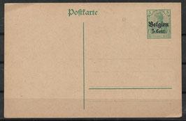 Deutsches Reich BESETZUNG 1. WK BELGIEN P 9 ungebraucht