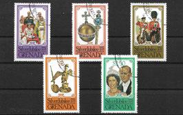 GRENADA 851-855 gestempelt