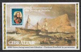 Gibraltar Block 7 postfrisch (2)