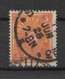 Deutsches Reich POSTHORN 205 W gestempelt (INFLA) (2)