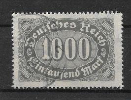 Deutsches Reich FREIMARKE ZIFFERN 252 gestempelt (INFLA)